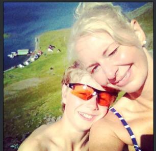 Roar og meg på storstein over Laholmen